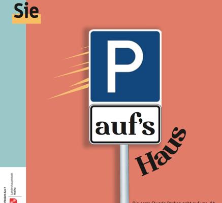 Parken aufs Haus